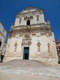 Włochy, Apulia, Taranto, Martina franca, widok bazylika St Martin w Plebiscito kwadracie obraz stock