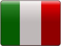 Włochy button bandery Zdjęcie Stock
