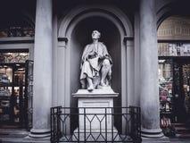 Włochy Florencja Filippo Brunelleschi statua przy bożymi narodzeniami Zdjęcia Royalty Free