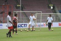 Włochy i AC Mediolańska legenda Daniele Massaro Zdjęcie Royalty Free