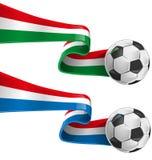 Włochy i France flaga Fotografia Stock