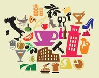 Włochy ikony ilustracji