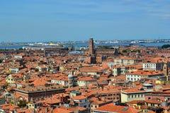 Włochy, Italia, Wenecja, Adriatycki morze, San Marco, widok z lotu ptaka zdjęcie stock