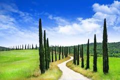 włochy kształtuje obszar Toskanii Zdjęcia Royalty Free