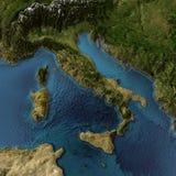 Włochy mapa 3d zdjęcie royalty free