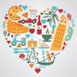 Włochy miłość Ilustracja Wektor