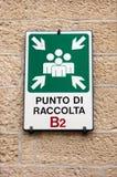 Włochy. Miejsce spotkania przegrani turyści. Zdjęcie Royalty Free