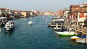 Włochy, Murano, wodny łódź kanał i tradycyjni budynki, zbiory