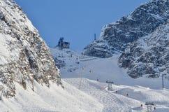 Włochy ośrodek narciarski Passo Del Tonale obraz royalty free