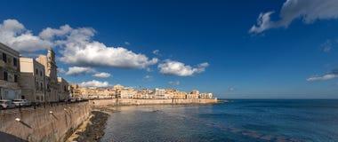 Włochy Ortygia wyspa Syracuse, Sicily - zdjęcie stock
