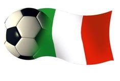 Włochy piłka bandery Obraz Royalty Free