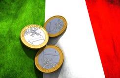 Włochy pieniądze flaga Obraz Stock