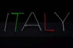 Włochy pisać Zdjęcia Royalty Free