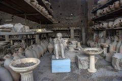 Włochy, Pompeii, 02,01,2018 Pompeii odgrzebany brzęczenie reprodukcja Zdjęcie Stock