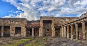 Włochy, Pompeii, 02,01,2018 Stabian podwórze kąpać się (termin Obrazy Royalty Free