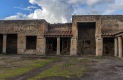 Włochy, Pompeii, 02,01,2018 Stabian podwórze kąpać się (termin Zdjęcia Royalty Free