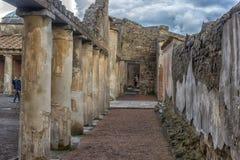 Włochy, Pompeii, 02,01,2018 Stabian podwórze kąpać się (termin Fotografia Royalty Free