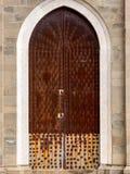 Włochy 2017 Rdzewiał Kościelnego drzwi Fotografia Royalty Free