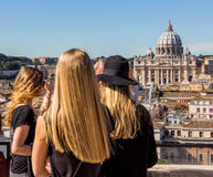 Włochy, Rome, st. Peter bazylika Obrazy Stock