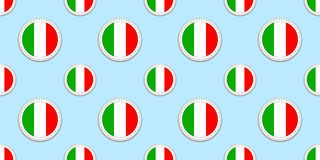 Włochy round chorągwiany bezszwowy wzór Włoski tło Wektorowe okrąg ikony Geometryczni symbole Tekstura dla sport stron, competiti royalty ilustracja