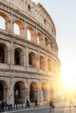 włochy Rzymu Grudzień 05, 2017: Colosseum w Rzym Włochy pogodny Zdjęcie Stock