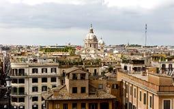 włochy Rzymu Widok miasto od Hiszpańskich kroków Zdjęcie Stock