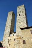 Włochy San gimignano pałacu. zdjęcie royalty free