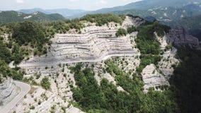 Włochy Sceniczna trasa Mandrioli przełęcz Zawiłe krzywy zbiory wideo