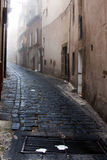 Włochy Sicily Caltagirone - typowa aleja obrazy stock