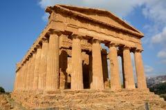 Włochy, Sicily, Concorde świątynia, świątynie dolinne Fotografia Royalty Free