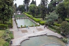 WŁOCHY TIVOLI, MAJ, - 24, 2011: Willi d «Este16th-century fontanna i ogród, Tivoli, Włochy Unesco Światowego Dziedzictwa Miejsce obrazy royalty free