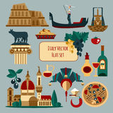 Włochy Turystyczny set royalty ilustracja