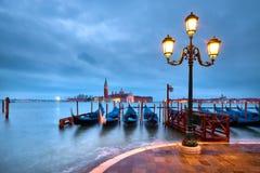 Włochy, Wenecja bulwar przy nocą obrazy stock
