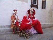 Włochy Wenecja Karnawał masek ludzie Zdjęcie Stock