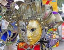 Włochy Wenecja karnawałowe szarość odizolowywająca maska Obraz Stock