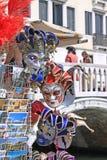 Włochy Wenecja karnawałowe szarość odizolowywająca maska Obrazy Royalty Free