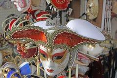 Włochy Wenecja karnawałowe szarość odizolowywająca maska Obraz Royalty Free