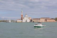 Włochy Wenecja Veiw przy katedrą Santa Maria della salut od łodzi Obrazy Stock