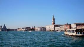 włochy Wenecji Piazza San Marco i doża pałac w słonecznym dniu, zbiory wideo