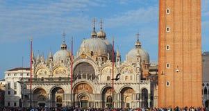 włochy Wenecji Zadziwiający krajobraz San Marco kwadrat zdjęcie stock