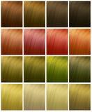 Włosów kolory obrazy stock