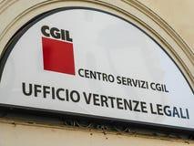 Włoscy CGIL spory prawni Biurowi zdjęcie stock