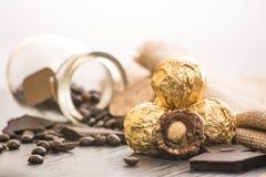Włoscy czekoladowi cukierki z dekoracją Fotografia Royalty Free