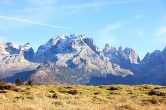 Włoscy dolomity blisko Madonna Di Campiglio fotografia stock