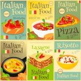 Włoscy Karmowi plakaty Ustawiający ilustracja wektor