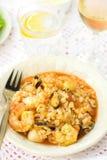 Włoscy ryż rozdają risotto z owoce morza, garnelami i mussels, Zdjęcia Royalty Free