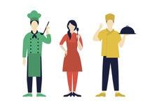 Włoscy szefowie kuchni Inkasowi ilustracja wektor