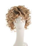 Włosiana peruka nad mannequin głową Zdjęcia Stock