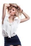 włosiana zdrowa luksusowa naturalna kobieta zdjęcia stock