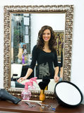 włosianego salonu kobieta fotografia royalty free